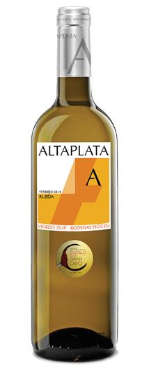 ALTA PLATA VERDEJO 2014 Galardonado con el Gran Zarcillo de Oro 2015